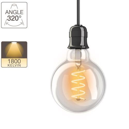Ampoule LED G95 - culot E27 - vintage
