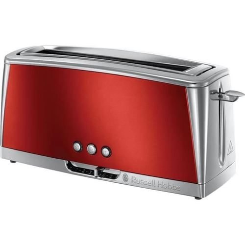 Russell Hobbs 23250-56 - Grille-pain Luna - Technologie Fast Toast - Rouge Solaire