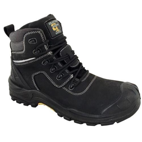 Grafters - Chaussures en cuir de sécurité - Homme (45 FR) (Noir) - UTDF1784