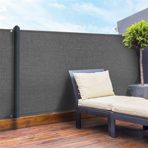 Brise vue gris 1,8 x 10 m 90 gr/m² classique