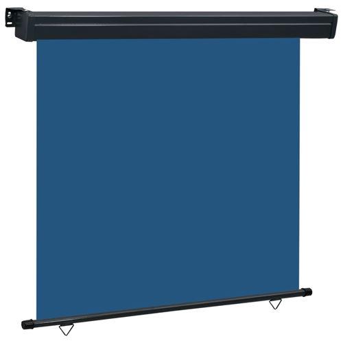 vidaXL Auvent latéral de balcon 160x250 cm Bleu