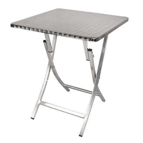 bistro bolero 600mm Table carrée pliante aluminium QrsthdCxB