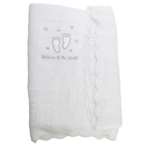 Snuggle Baby - Châle HEAVEN SENT CHRISTENING - Bébé (Taille unique) (Blanc cassé) - UTBABY1581