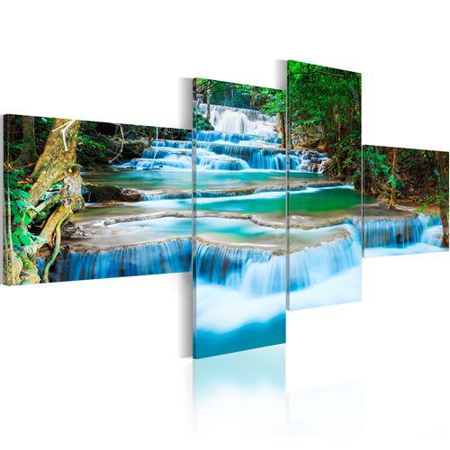 Tableau | Torrent | 100x45 | Paysages | Forêt |