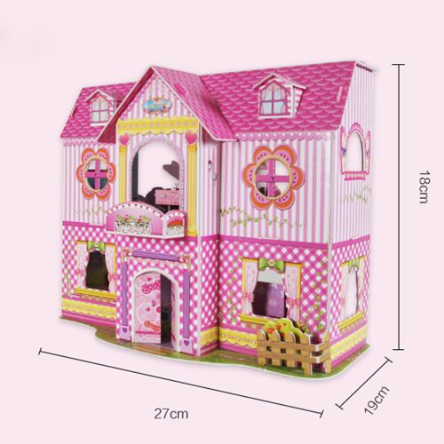 Modèle drôle 3D Kits DIY Princess House Puzzles Education Toy Best Home For Kids Pealer2763