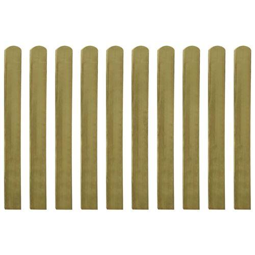 Lattes imprégnées de clôture 20 pcs Bois 100 cm