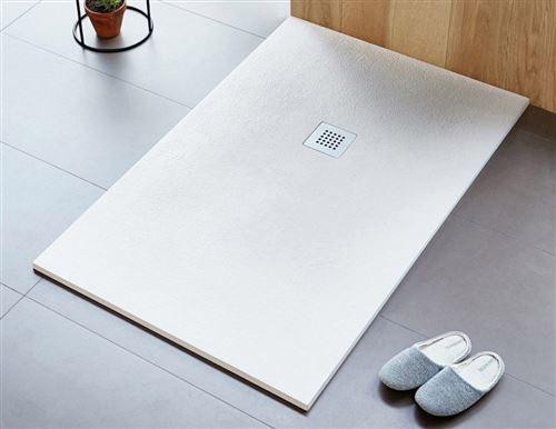 Receveur de douche rectangle beige Strato - 110 x 80 cm