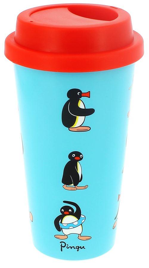 Blueprint Collections mug chauffant Pingouin 500 ml bleu/rouge