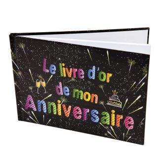 Livre D Or Anniversaire 80 Pages 21 5 X 15 5 Cm