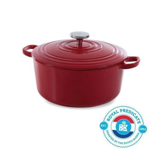 BK Cookware H6072.524 BK Bourgogne Cocotte en Fonte - Ronde - 24 cm - 4.2L - Revetement emaille - Couvercle avec Anneaux