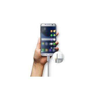 Cable Metal Nylon Pour Lg Xscreen Android Chargeur Usb Micro 15m Connecteur Tresse Rose Bonbon