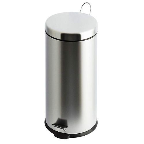 Poubelle à pédale - 30 litres - Chrome 30 litres