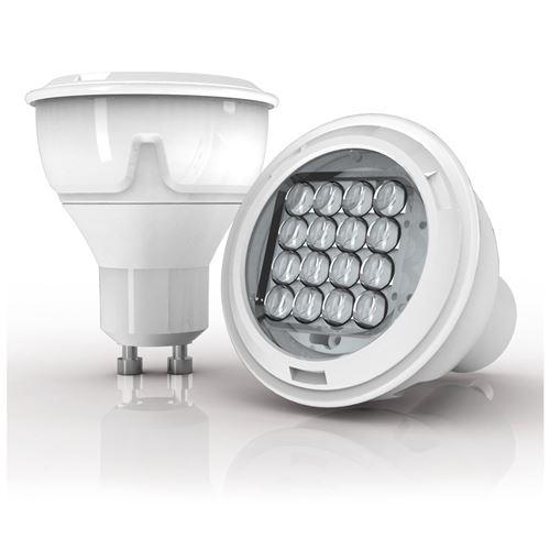 Xanlite|Ampoule LED spot, culot GU10, 6,1W cons. (50W eq), lumière blanc chaud|PG50SFW