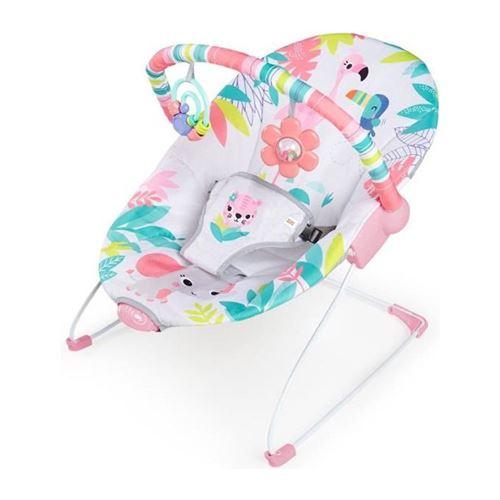 bright starts transat bébé vibrant flamingo vibes