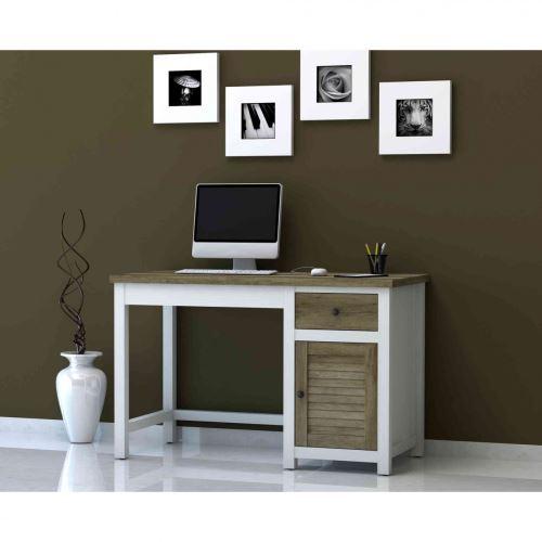 Bureau 1 tiroir 1 porte en bois - BU4019