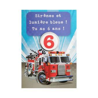 Carte De Voeux Enfant Anniversaire 6 Ans Garcon Carte De Vœux Achat Prix Fnac