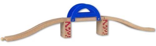 Pont en bois - accessoire circuit train - beeboo - jouet en bois