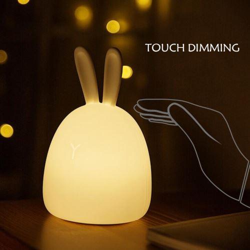 LED Lights nuit pour les enfants, bébé silicone animal mignon avec capteur Décoloration Pealer637