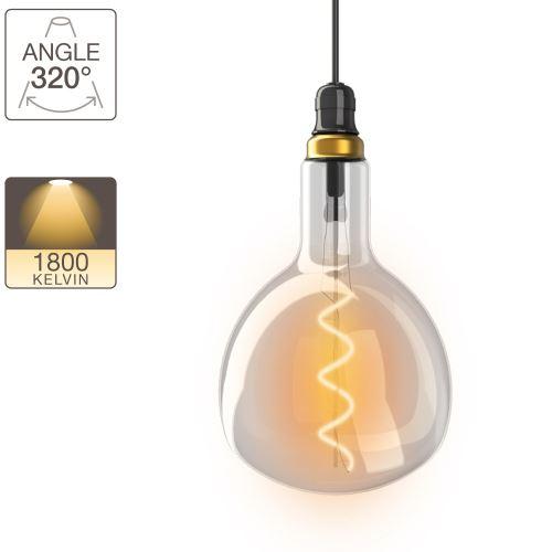 Ampoule LED fiole - culot E27 - vintage torsade