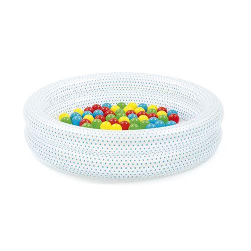 Piscine gonflable ronde avec 50 balles de jeu - Up In & Over - 91 x 20 cm - Couleur aléatoire