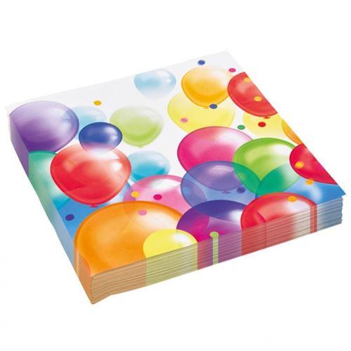 Amscan Ballons 20 pièces Napkins 30 cm