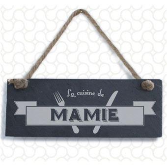 Plaque Ardoise Décorative La Cuisine De Mamie 10 X 25 Cm
