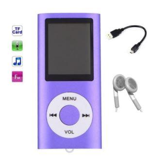 Lecteur MP3 MP4 - radio fm - à carte mémoire Micro sd - Violet