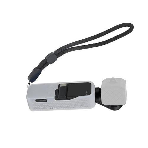Housse de Protection en Silicone Ventiler avec Lanière de Poignet pour Dji Osmo Pocket XJPJ074