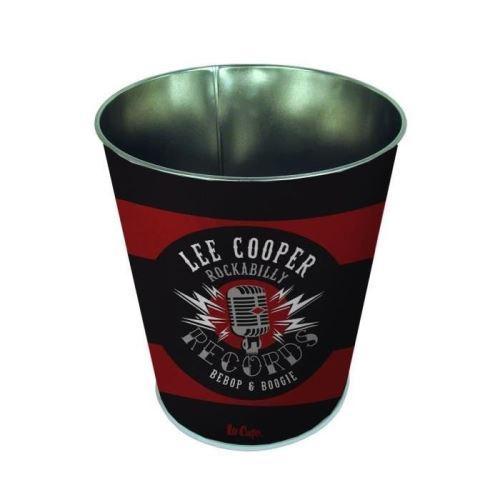 Pierre henry lee cooper corbeille conique - décor rockabilly - en métal - classé non feu m1 - 7,5 l - imprimé vernis brillant