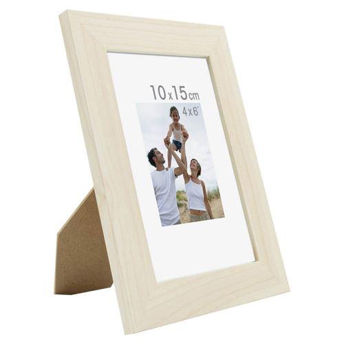 Bois reconstitu/é IMAGINE Cadre Photo Optimo Fuchsia 10x15 cm Marque fran/çaise