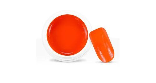 Gel uv / led couleur pailleté néon orange - 5 ml