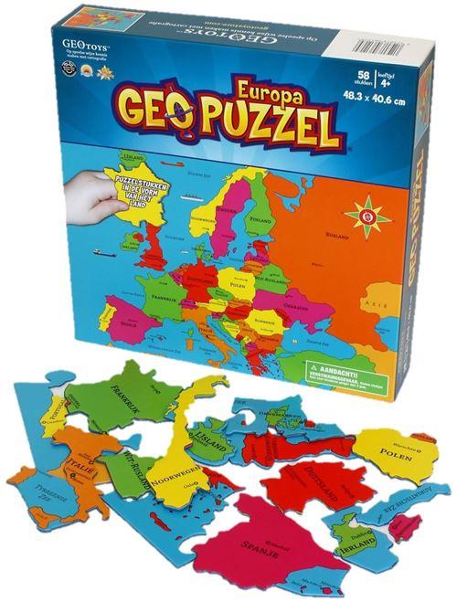 Geotoys puzzle Europe Jeune Néerlandais en carton 58 pièces