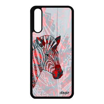 Coque Zebre P20 Silicone Afrique Savane Dessin Rouge Noir Et