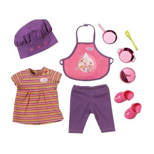 Zapf - baby born coffret cuisinier - tablier et toc + accesoires habit poupee 43 cm