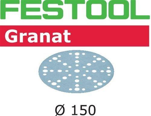 Lot de 10 abrasifs stickfix Ø150mm pour enduits, apprêts, peintures à faible teneur en COV STF D150/48 P180 GR/10 FESTOOL 575158