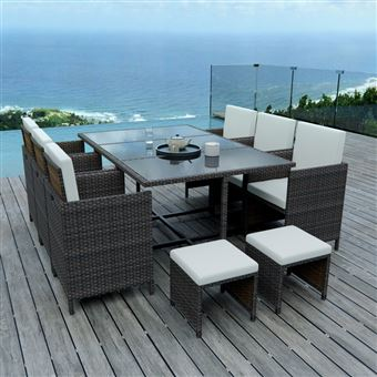 790€ sur IMS Garden - 10 Places - Ensemble encastrable salon / table ...