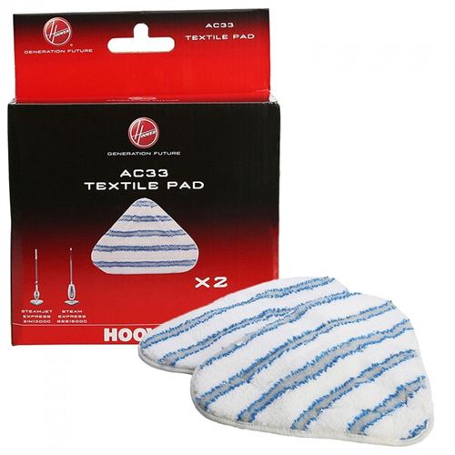 Patins x2 en toile microfibre ac33 pour nettoyeur vapeur steamjet hoover - g356314
