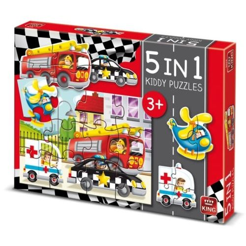 Puzzle 12 Pièces : Kiddy Puzzles - 5 in 1, King International