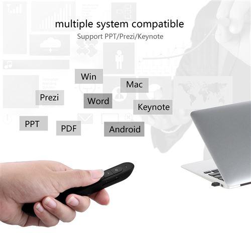 Alpexe Présentation Sans fil, 2.4GHz Télécommande de Présentation Powerpoint