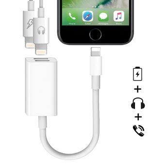 promo code 2d712 2e98a CABLING® iPhone 7 Adaptateur et Splitter, 2 en 1 double port Lightning  casque audio & Charge adaptateur pour iPhone 7/7 Plus