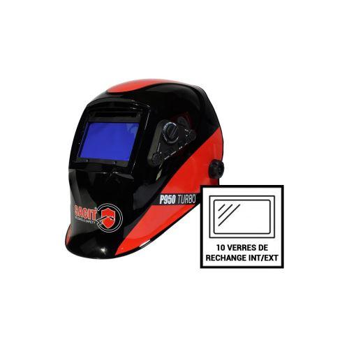 Pack 10 verres de rechange intérieur/extérieur pour la cagoule SACIT P950 LCD 5/13