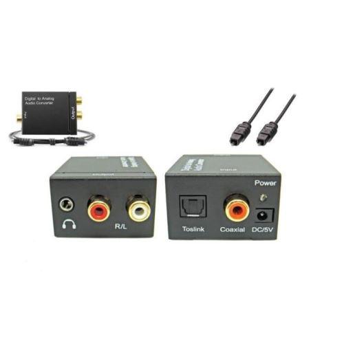 Convertisseur Audio Numérique SPDIF vers analogique avec adaptateur EU , câble optique pour XBox 360