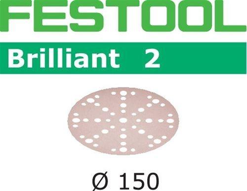 Lot de 10 abrasifs stickfix Ø150mm pour peintures et vernis STF D150/48 P180 BR2/10 FESTOOL 575141