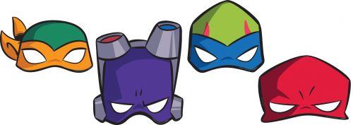 Amscan Masques Tortues Ninja 8 pièces
