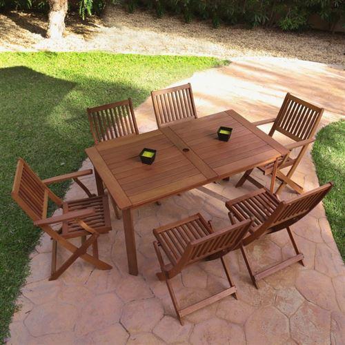Table de jardin 140cm en bois exotique KORTA