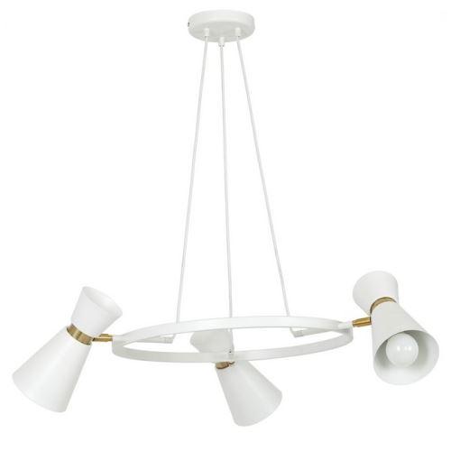 HOMEMANIA Lampe à Suspension Crater White - Lustre - Lustre de plafond - Blanc en Métal, 64 x 64 x 70 cm, 3 x E27, Max 60W