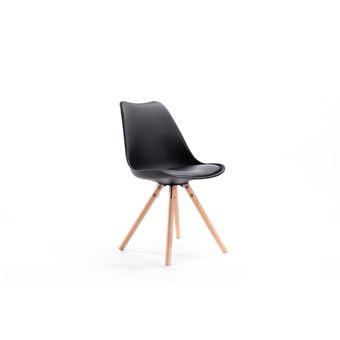 chaises scandinaves et coussin LOOP Lot bois de 2 pieds avec QrdxsCth