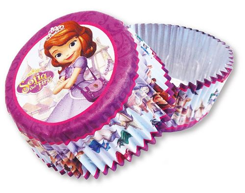 Amscan cupcake formes Sofia the First 24 pièces rose