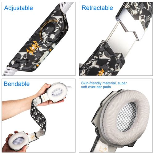 Casque de jeu Gaming PUBG Mic LED G9600 3.5mm jack
