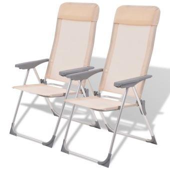 Vidaxl Chaises De Camping Aluminium 56x60x112 Cm Chaise De Peche
